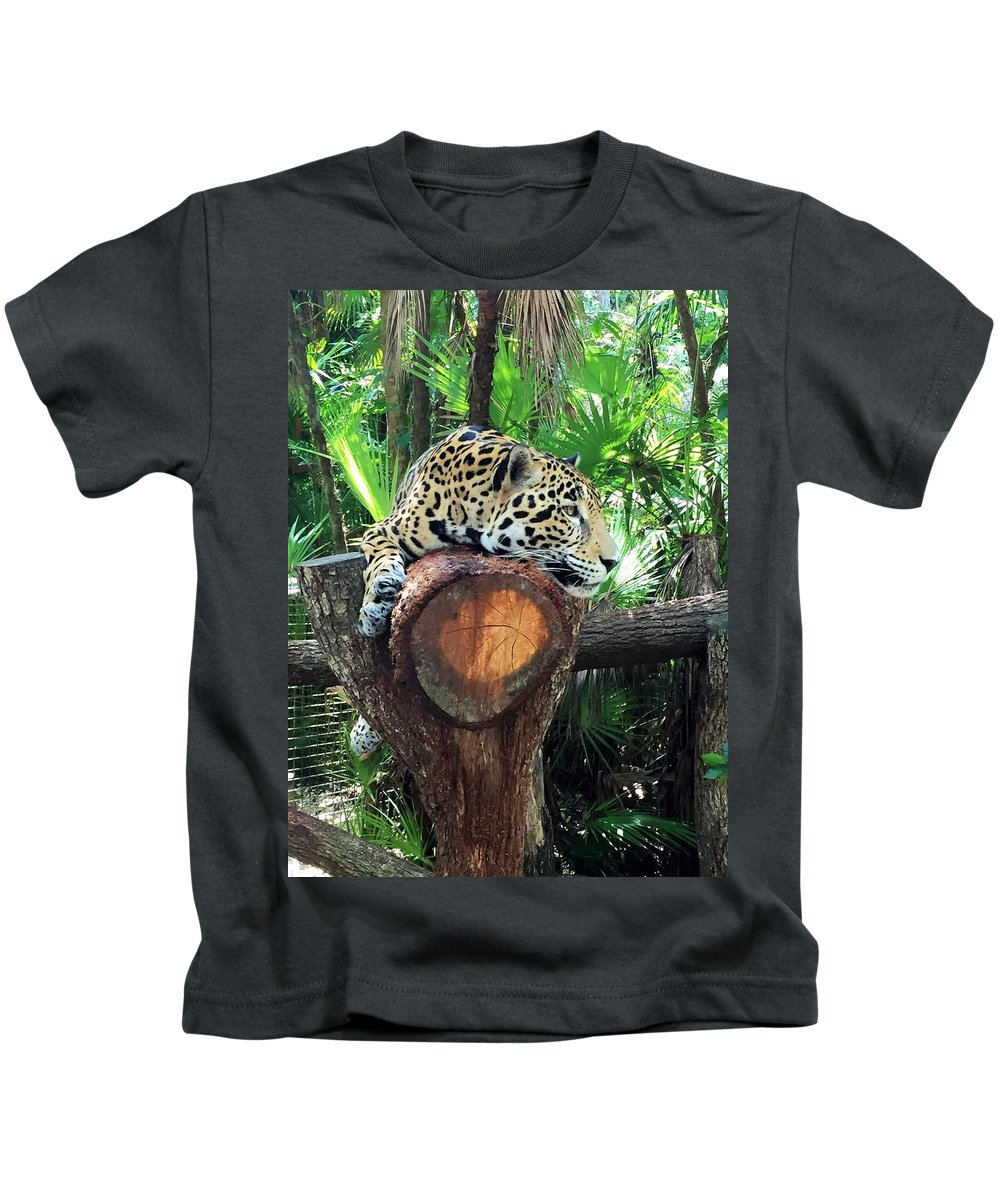 Big Cat Kids T-Shirt featuring the photograph Big Cat by Julia Breheny