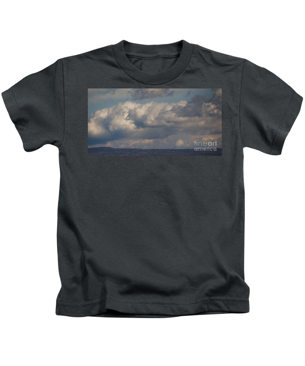 Landscape Of Storm Clouds Kids T-Shirt featuring the photograph Big Clouds by John Taylor