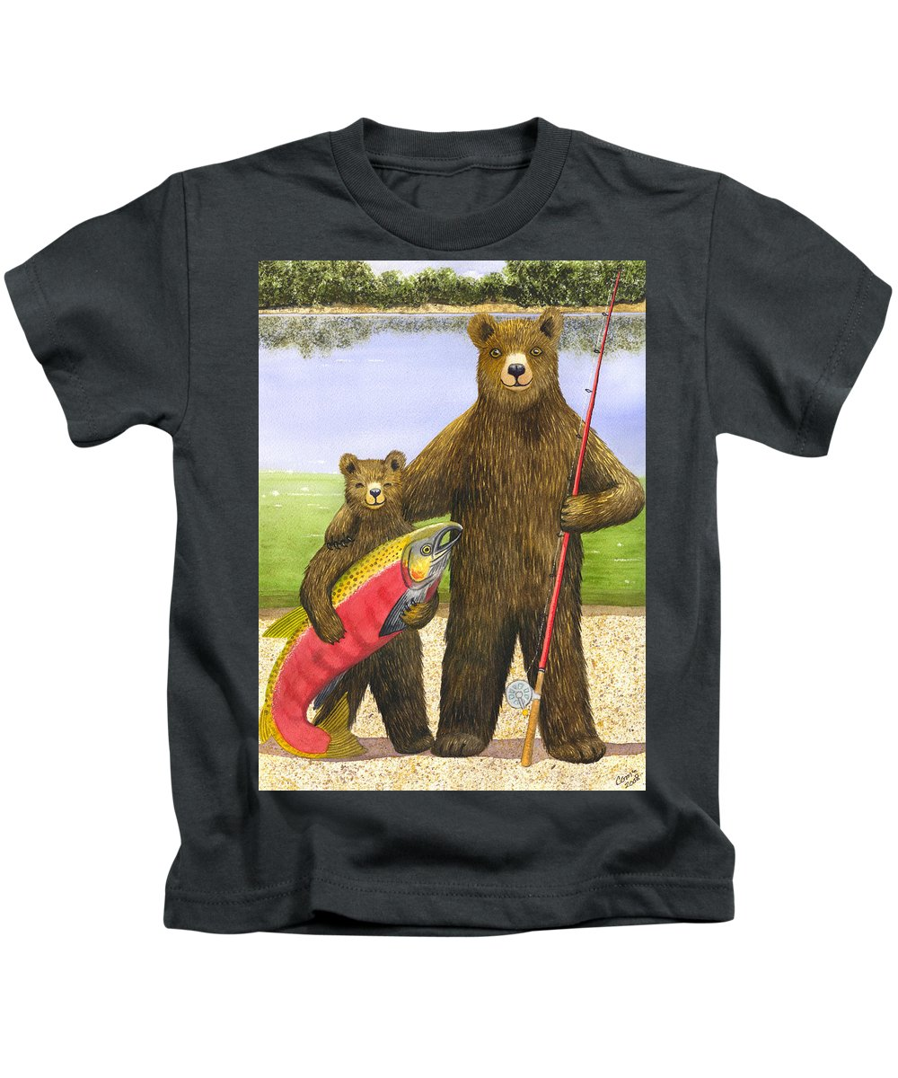 Bear Kids T-Shirt featuring the painting Big Fish by Catherine G McElroy