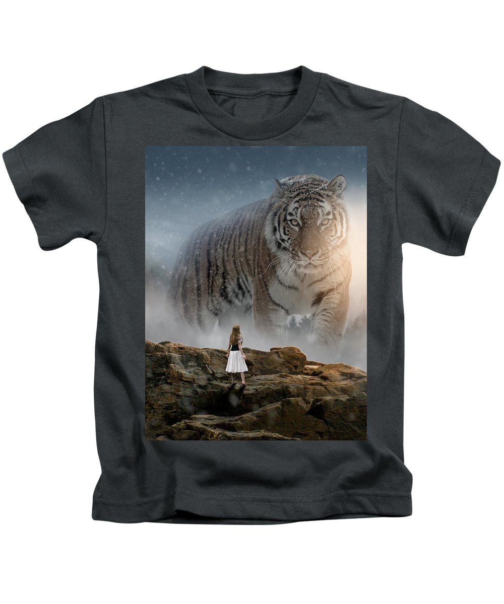 Tiger Kids T-Shirt featuring the photograph Big Tiger by Bjarke Hermann