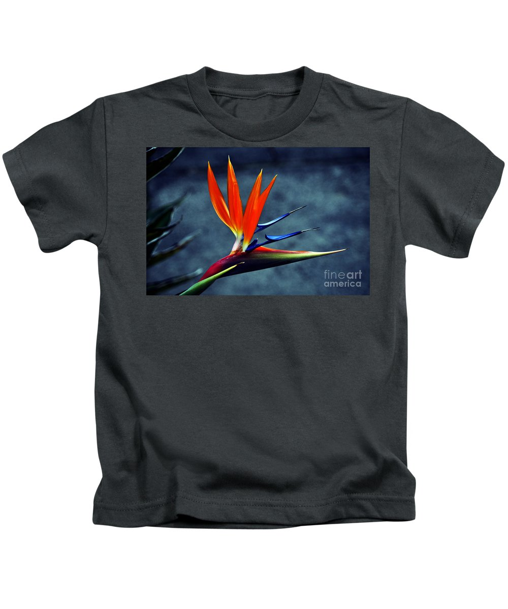 Clay Kids T-Shirt featuring the photograph Bird Of Paradise by Clayton Bruster