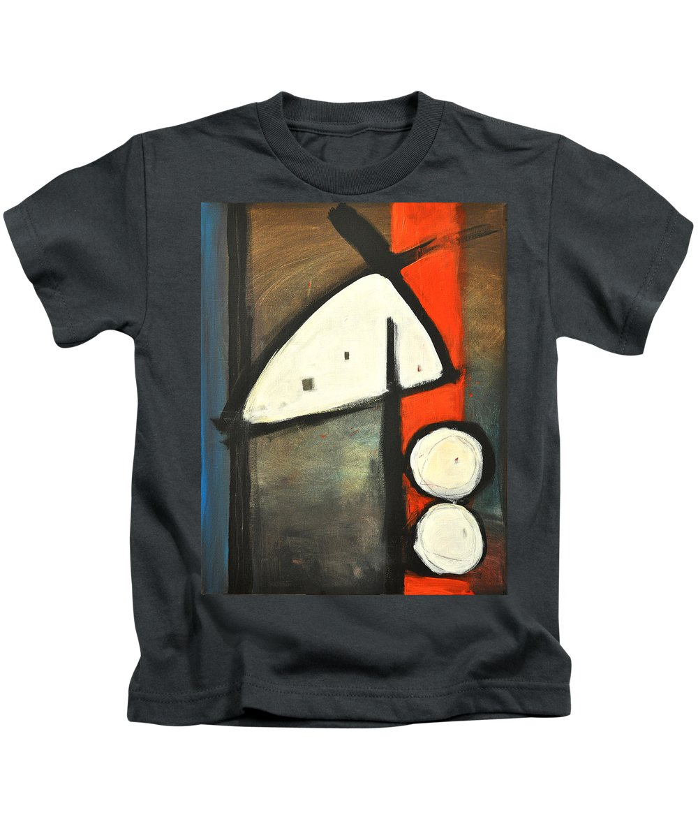 Abstract Kids T-Shirt featuring the painting Bird by Tim Nyberg