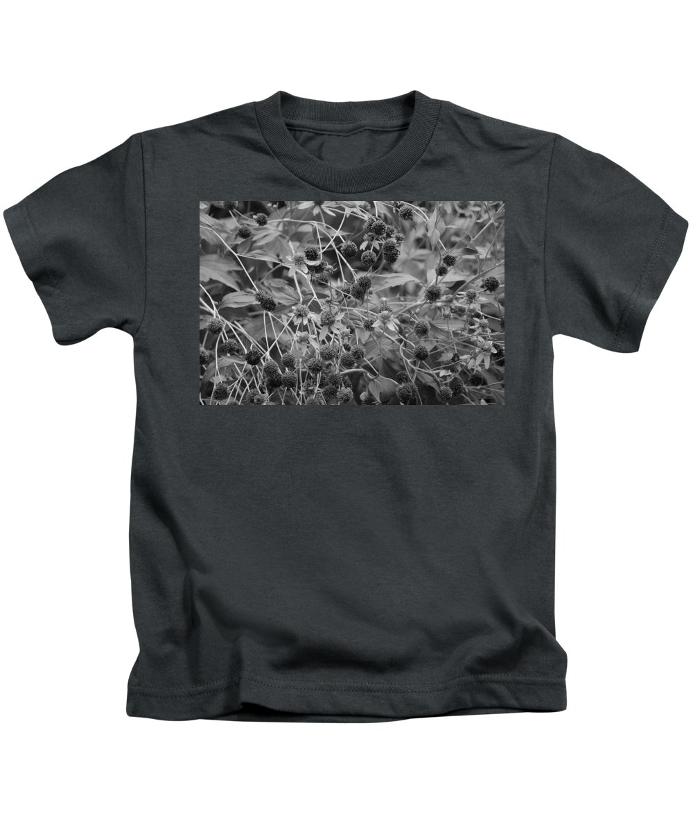 Black And White Kids T-Shirt featuring the photograph Black And White Sun Flowers by Rob Hans