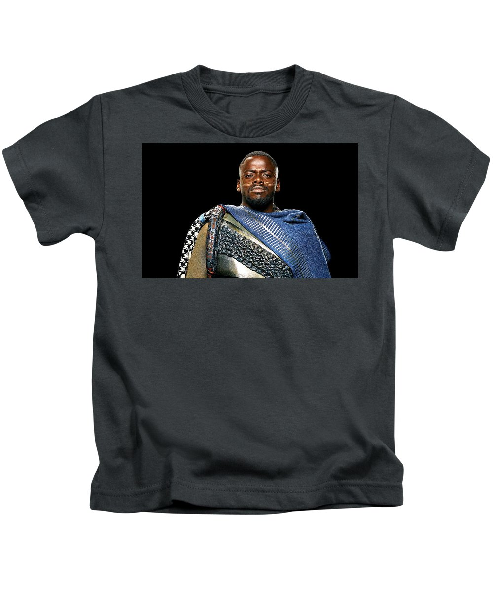 Black Panther Kids T-Shirt featuring the digital art Black Panther by Dorothy Binder