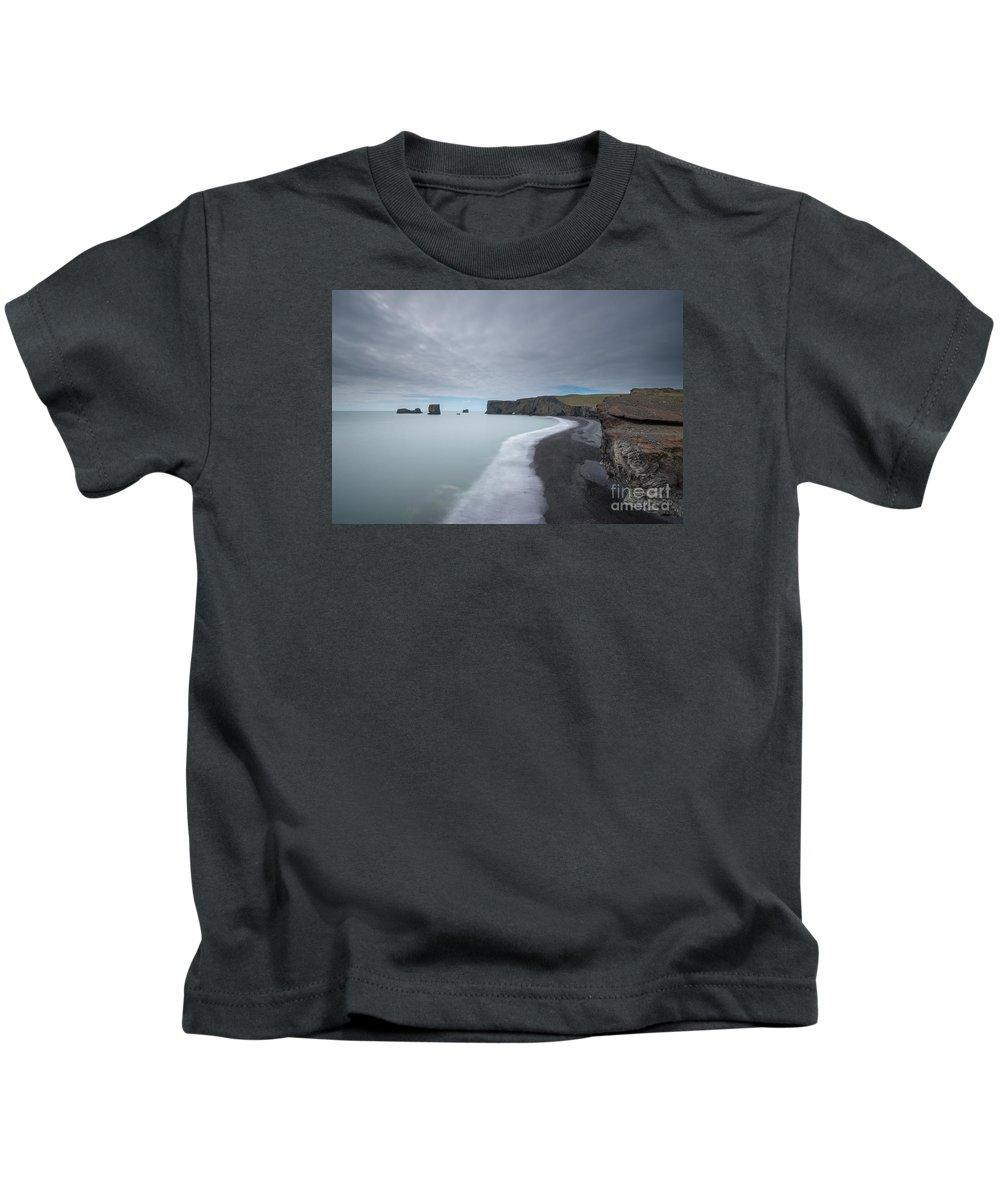 Black Sand Beach Kids T-Shirt featuring the photograph Black Sand Beach by Michael Ver Sprill
