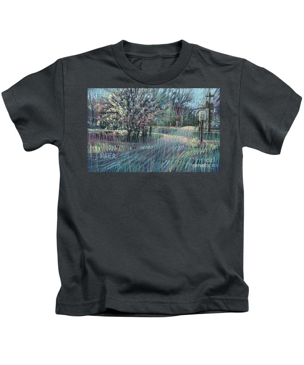 Blooming Tree Drawings Kids T-Shirts