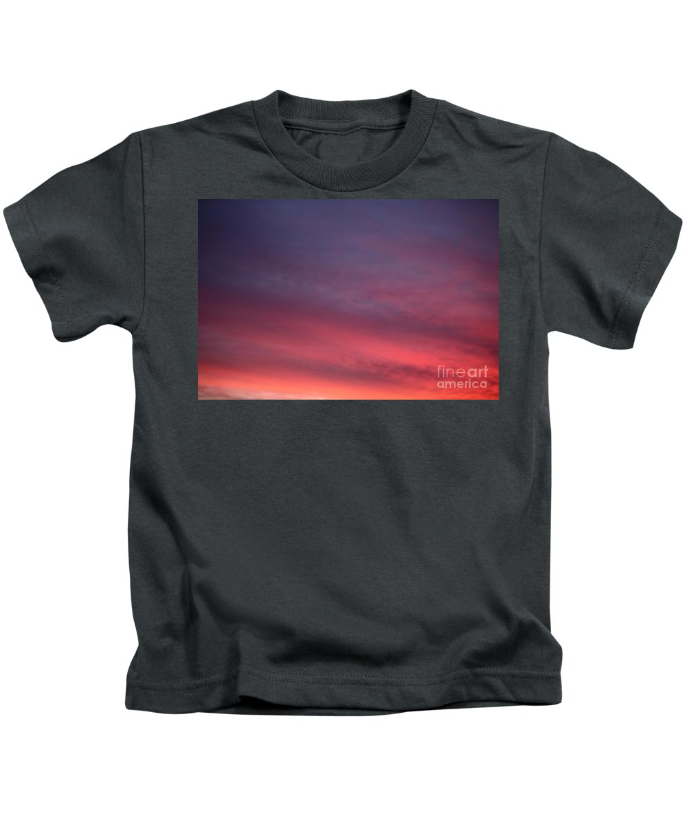 Sunset Kids T-Shirt featuring the photograph Blue And Orange Sunset by Nadine Rippelmeyer
