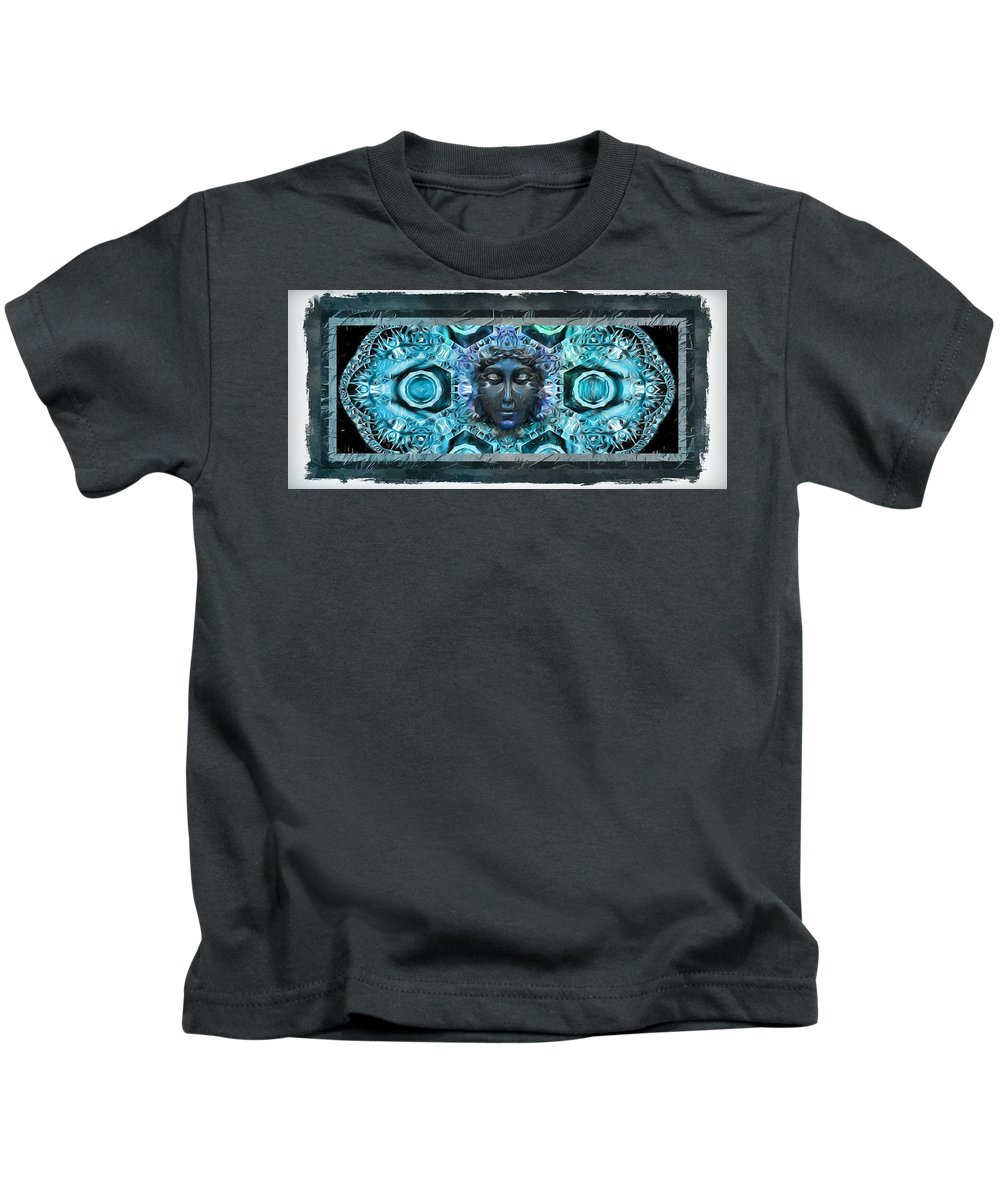 Blue Atheahon Kids T-Shirt featuring the photograph Blue Atheahon by Daniel Arrhakis