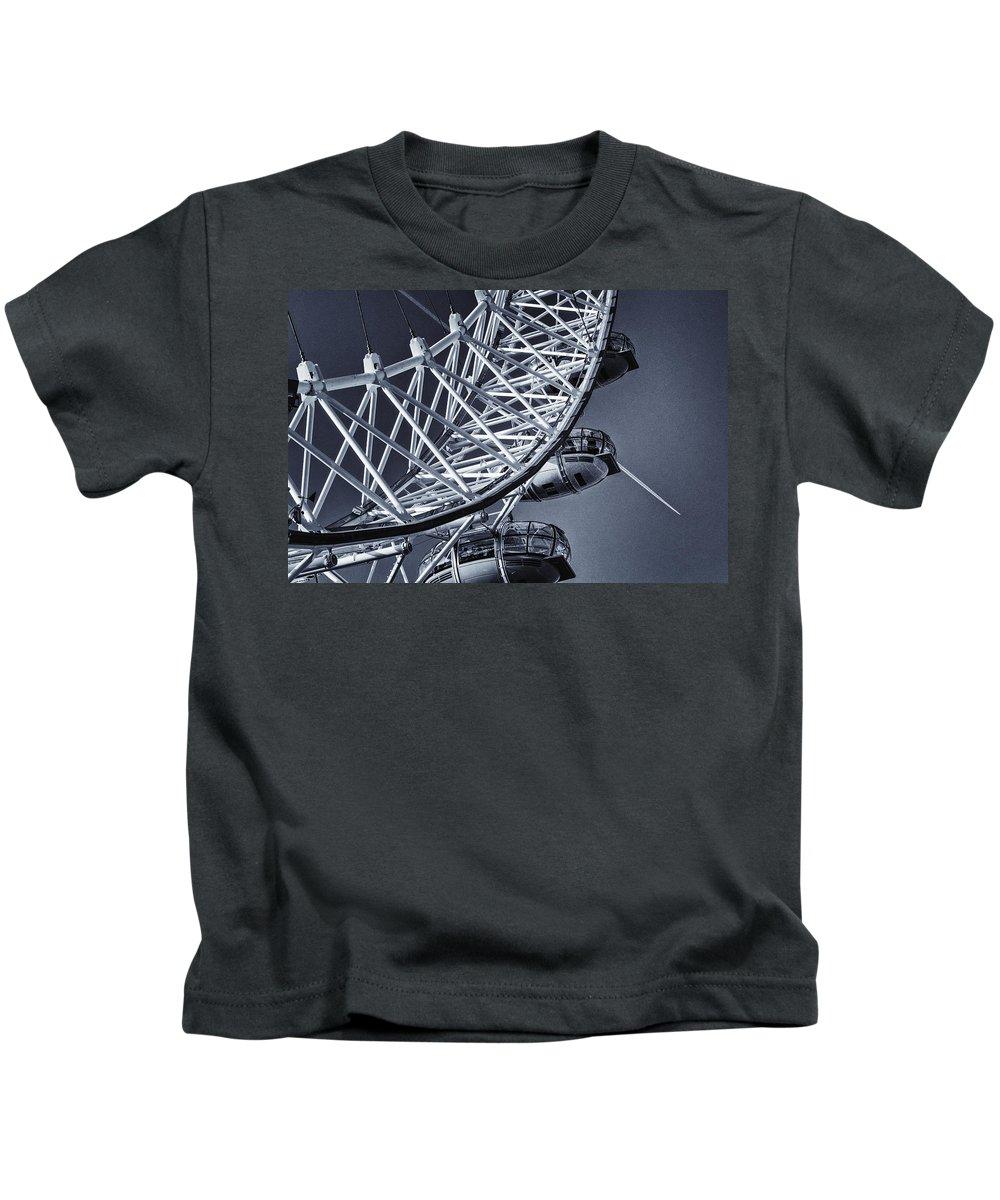 London Kids T-Shirt featuring the photograph Blue Eye by Joan Carroll