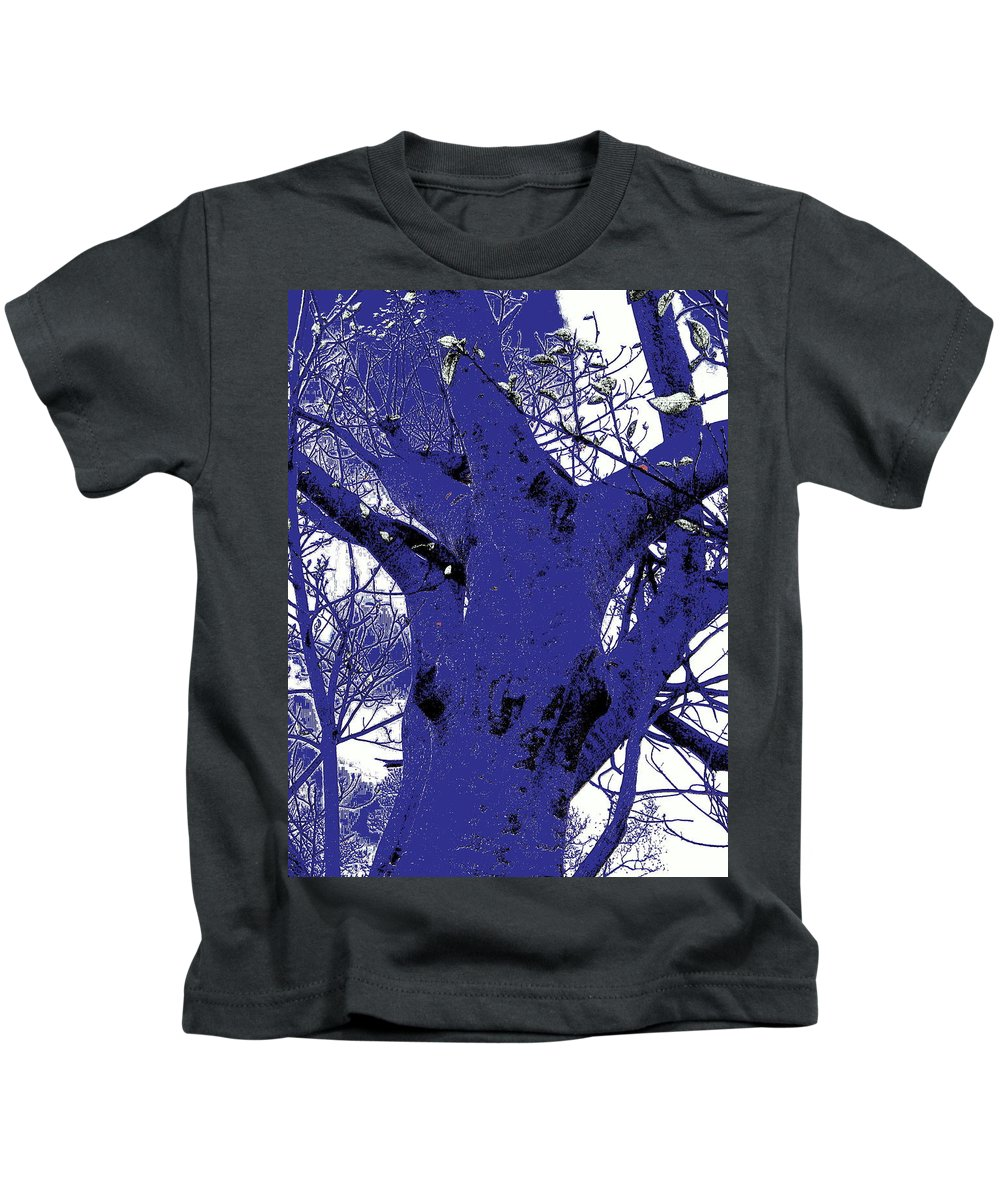 Landscape Kids T-Shirt featuring the photograph Blue Ice by Ed Smith