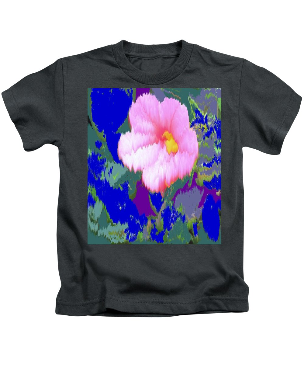 Flower Kids T-Shirt featuring the photograph Blue Pink by Ian MacDonald