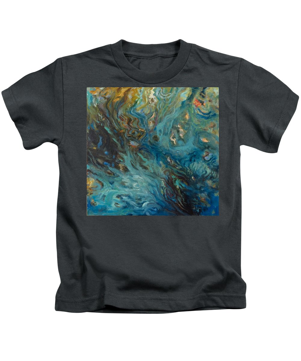 Marine Kids T-Shirt featuring the painting Blue by Rick Nederlof