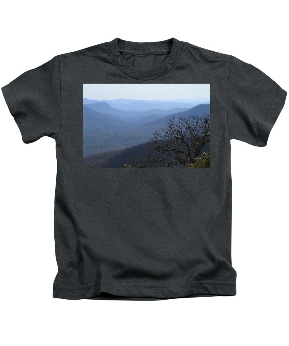 Blue Ridge Mountains Kids T-Shirt featuring the photograph Blue Ridge Mountain Majesty by Karen Ruhl