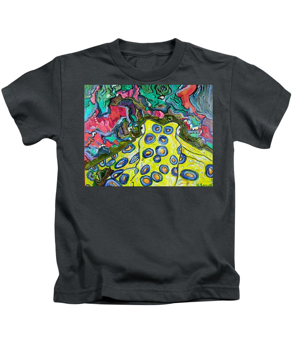 Octopus Kids T-Shirt featuring the painting Blue Ringed Octopus by Heather Lennox