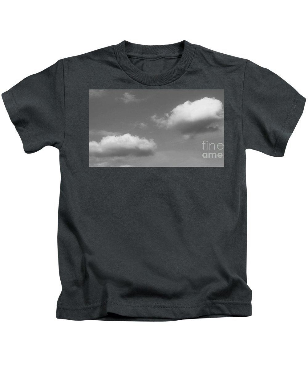 Amy Wilkinson Kids T-Shirt featuring the photograph Blue Sky - Black And White by Amy Wilkinson