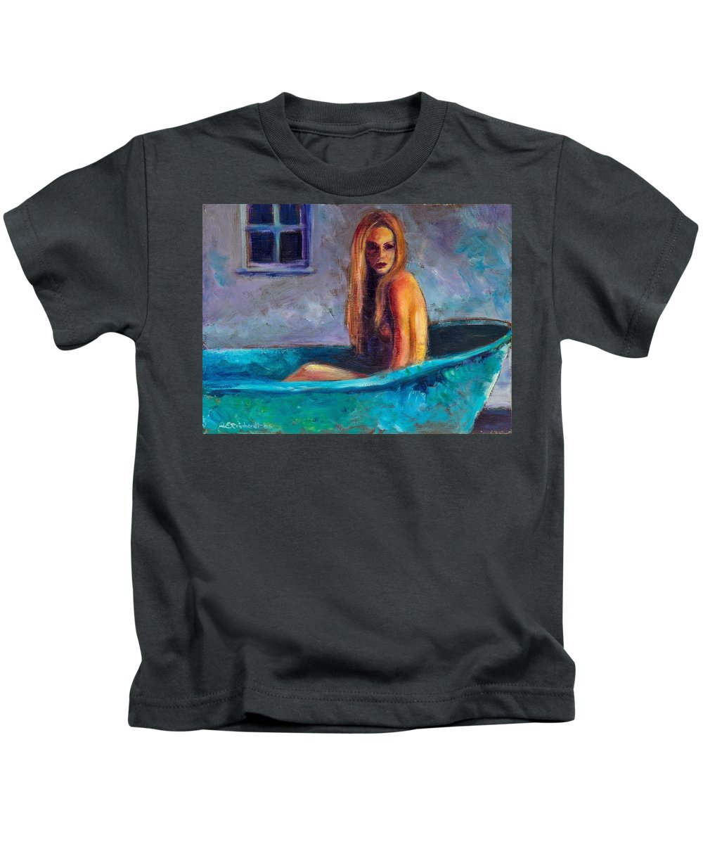 Nude Kids T-Shirt featuring the painting Blue Tub Study by Jason Reinhardt