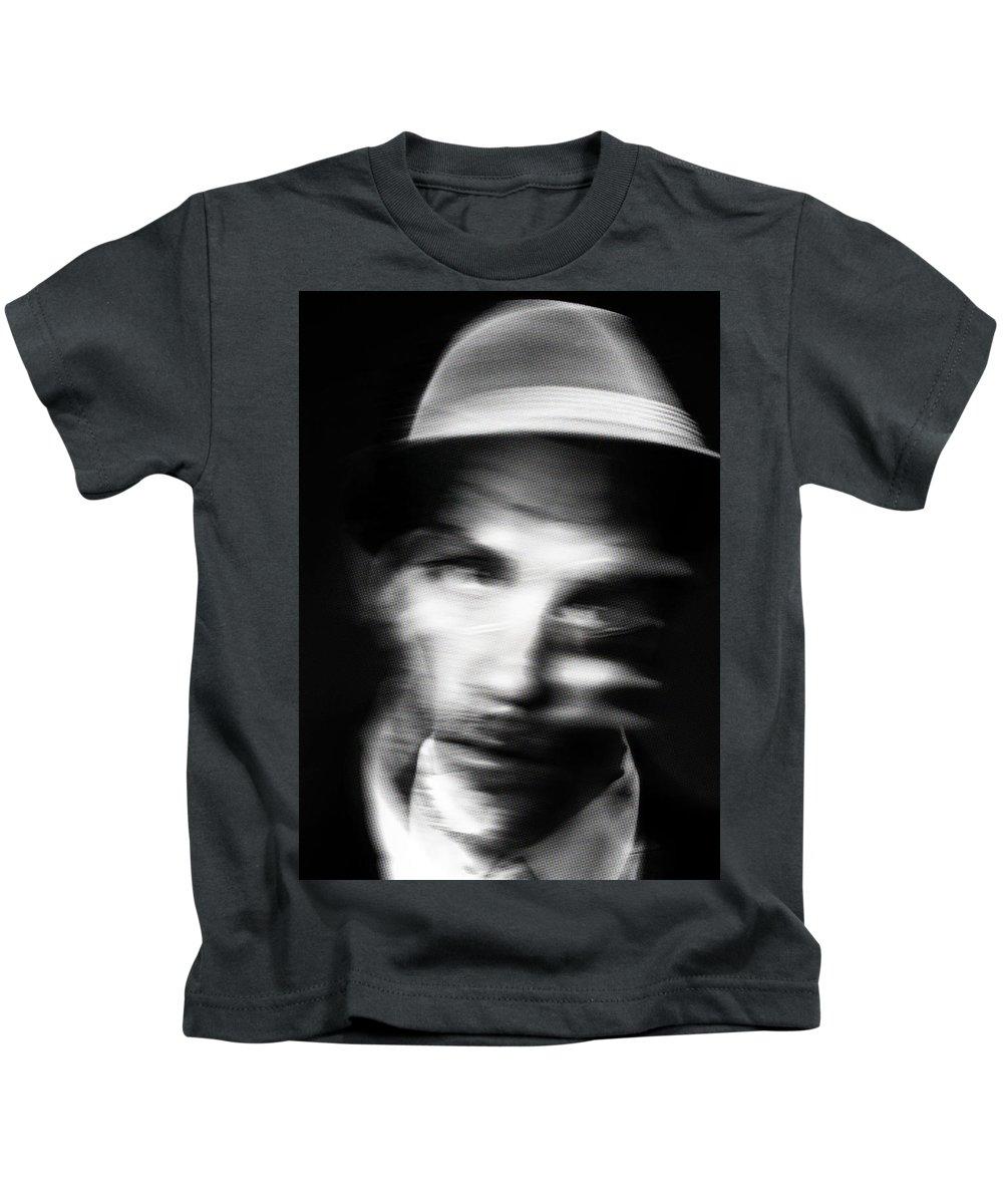 Kids T-Shirt featuring the painting Blurry Mr Kwiecinski by Maciej Mackiewicz