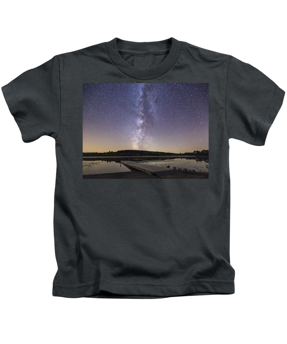 Milky Way Kids T-Shirt featuring the photograph Boat Ramp by Aaron J Groen