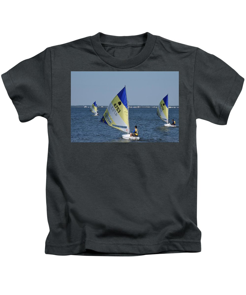 Boats Kids T-Shirt featuring the photograph Boats 169 by Joyce StJames