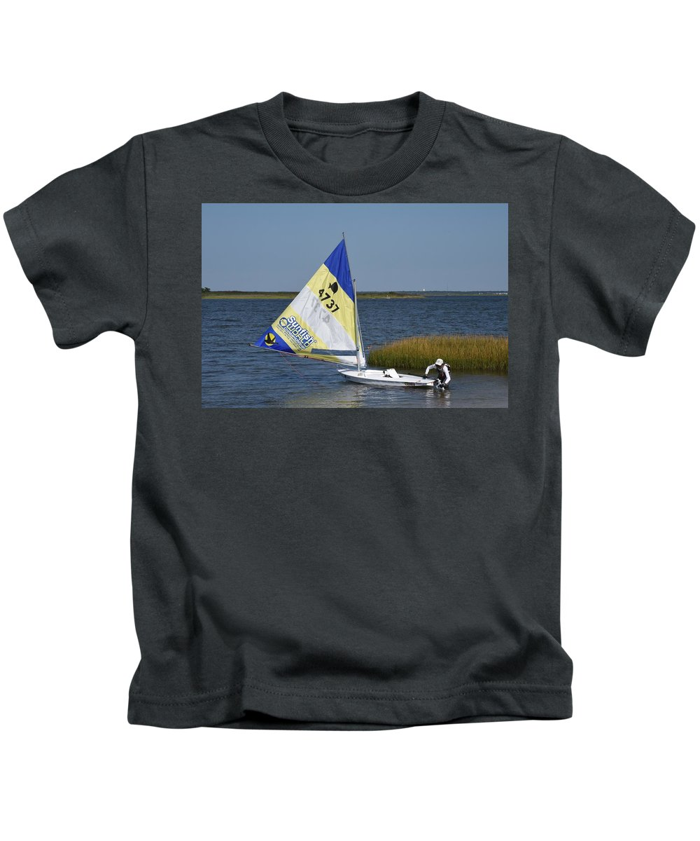 Boats Kids T-Shirt featuring the photograph Boats 170 by Joyce StJames