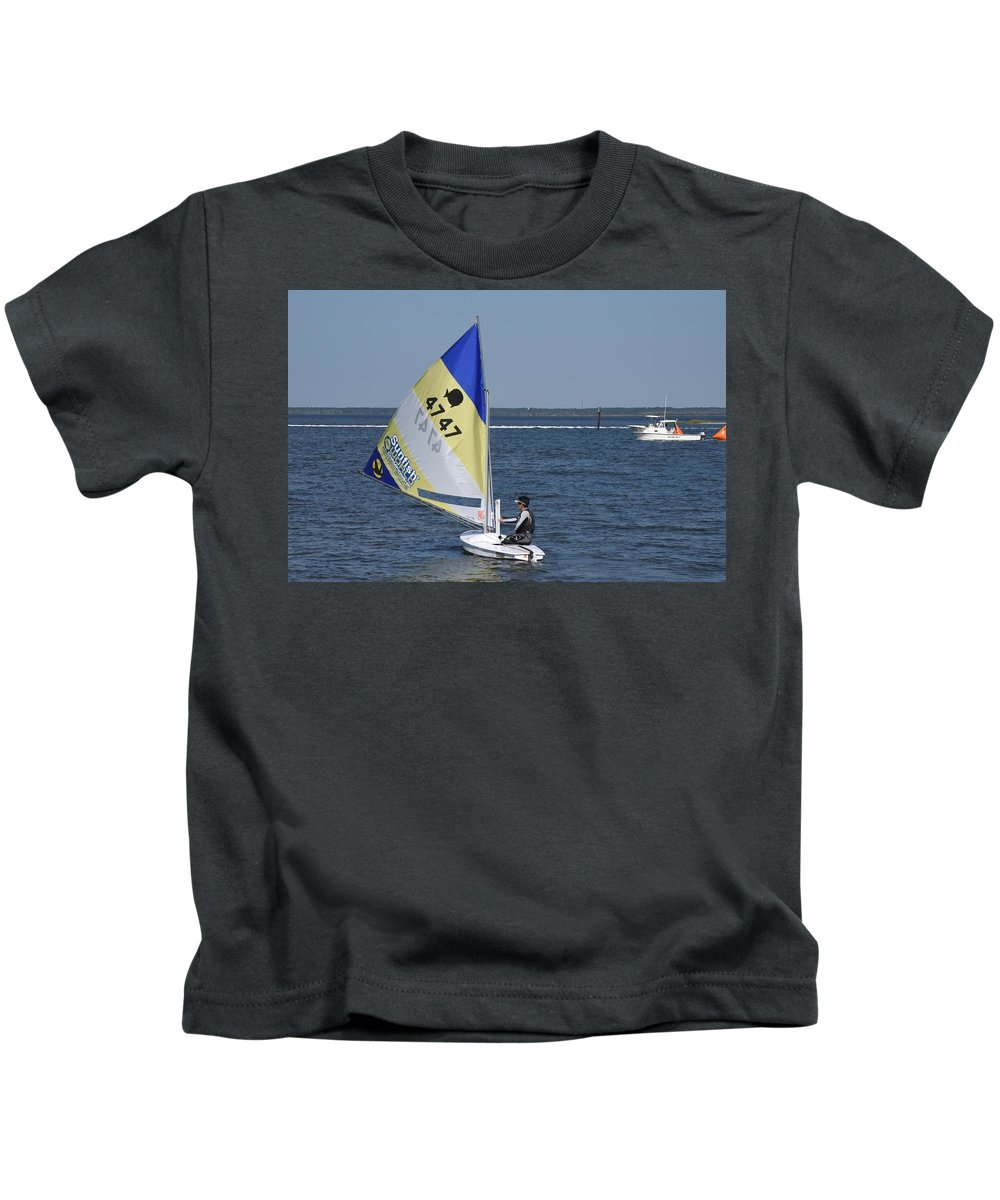 Boats Kids T-Shirt featuring the photograph Boats 171 by Joyce StJames