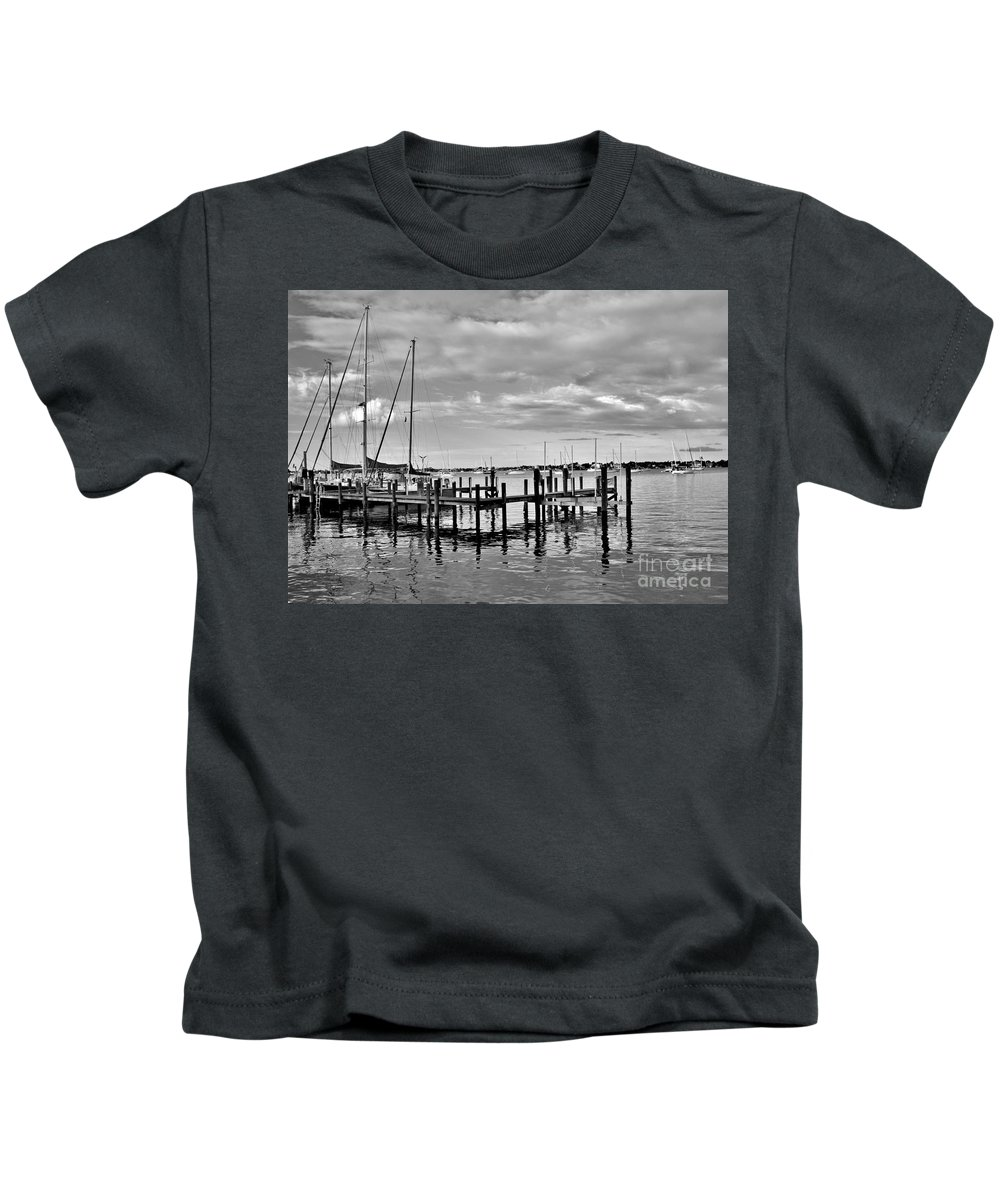 Kids T-Shirt featuring the photograph Boatworks 4 by Lisa Renee Ludlum