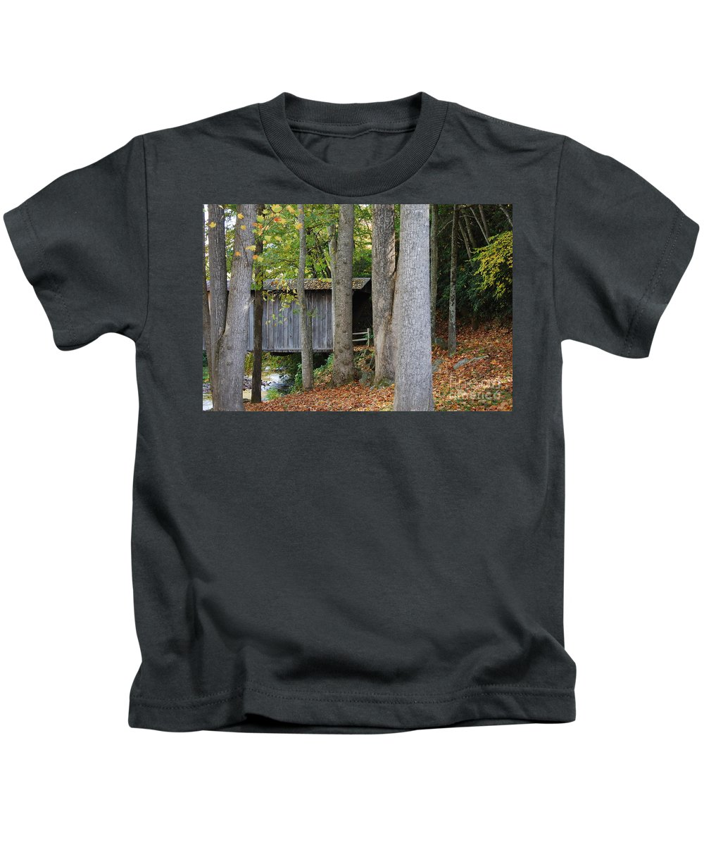 Bridge Kids T-Shirt featuring the photograph Bob White by Eric Liller