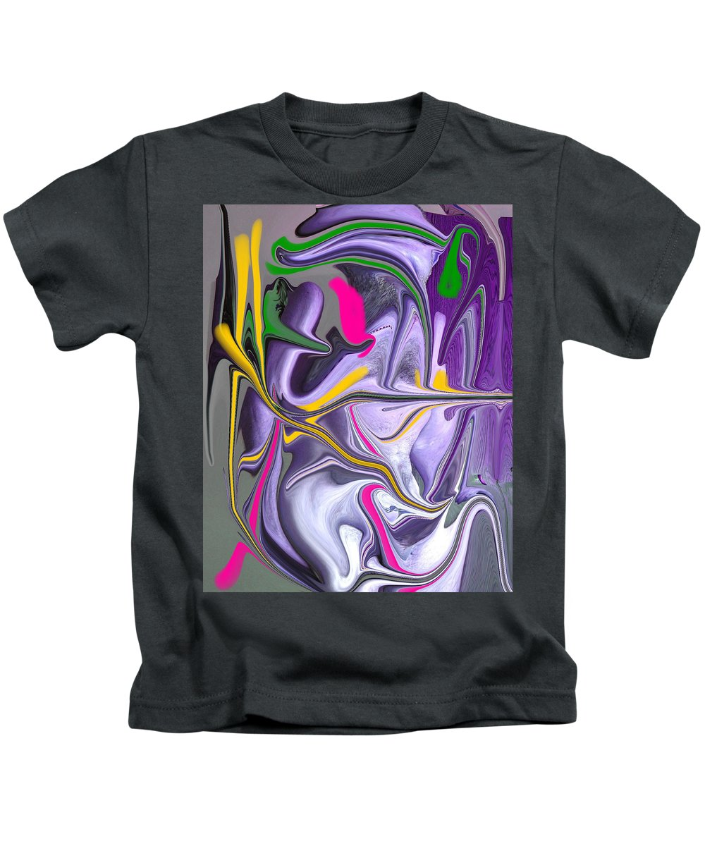 Abstract Kids T-Shirt featuring the photograph Body Language by Allan Hughes