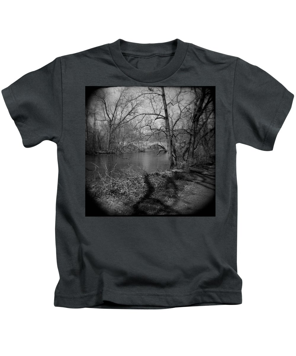 Photograph Kids T-Shirt featuring the photograph Boiling Springs Stone Bridge by Jean Macaluso