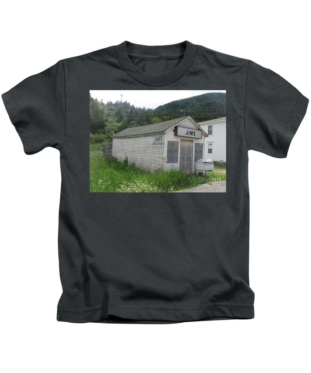 Photograph Bonne Bay Newfoundland Army Navy Store Kids T-Shirt featuring the photograph Bonne Bay2 by Seon-Jeong Kim