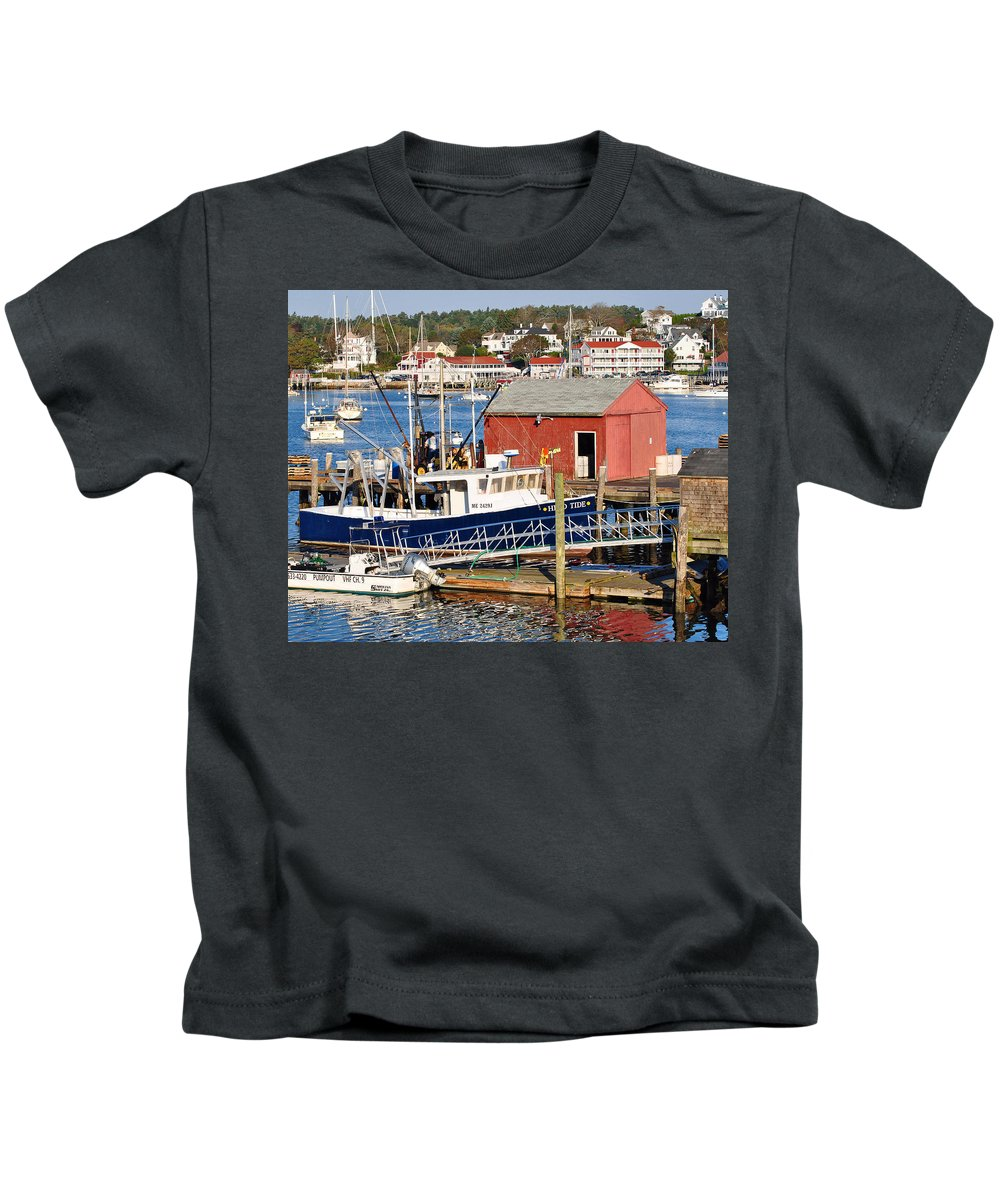 Boothbay Kids T-Shirt featuring the photograph Boothbay by Scott Coleman