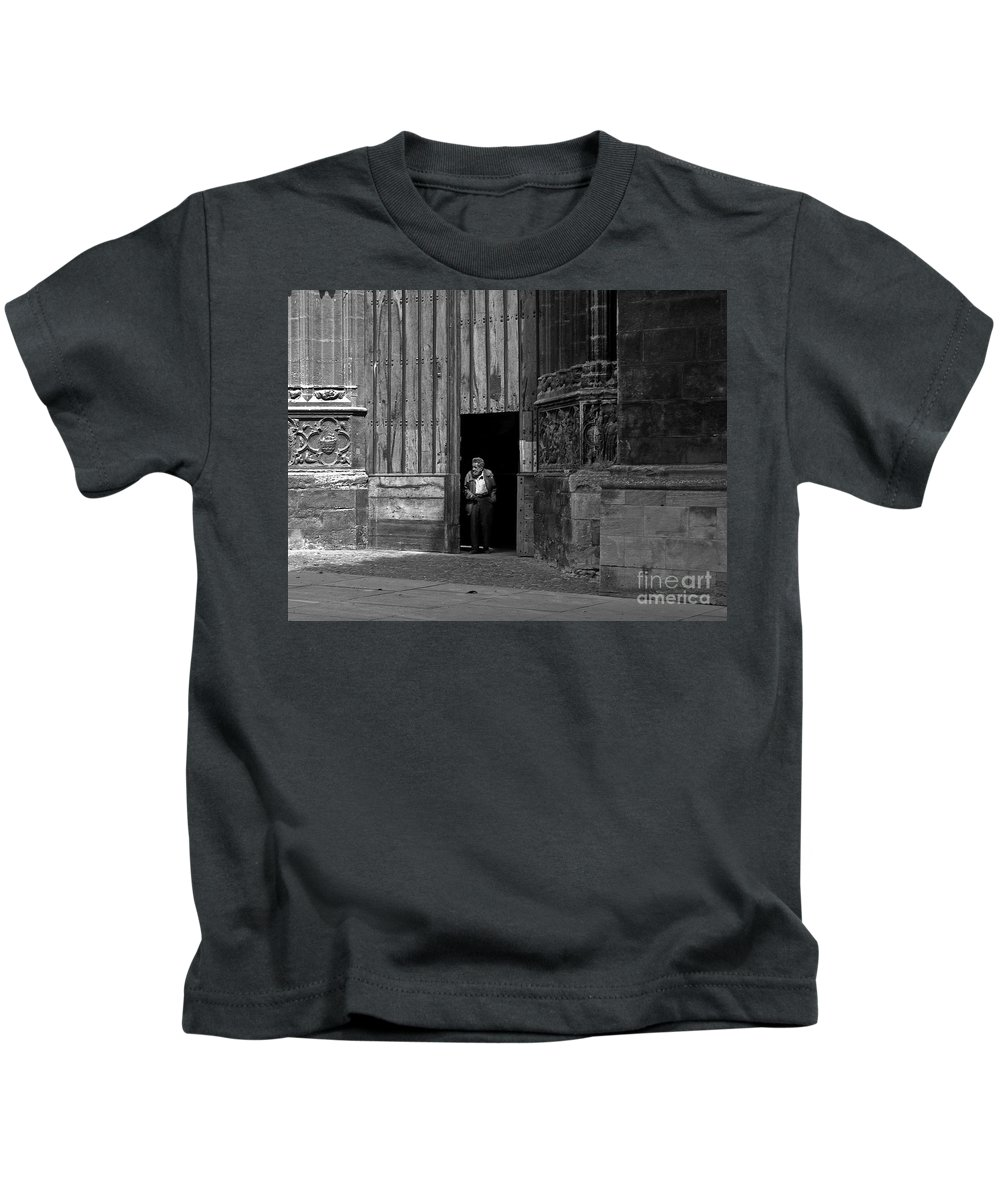 Bordeaux Kids T-Shirt featuring the photograph Bordeaux Church Door by Thomas Marchessault