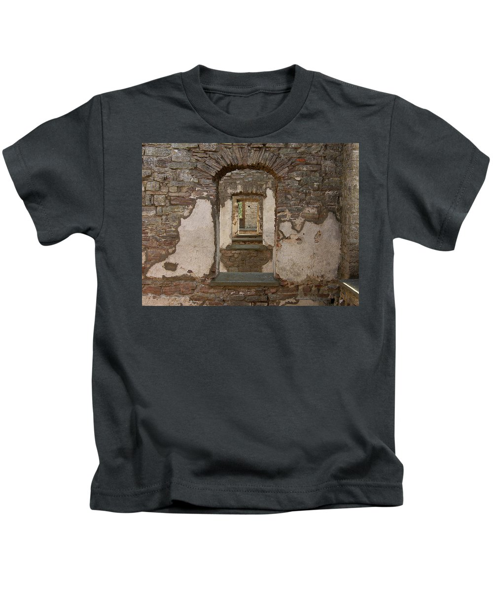 Arch Kids T-Shirt featuring the photograph Borgholm Castle by Are Lund