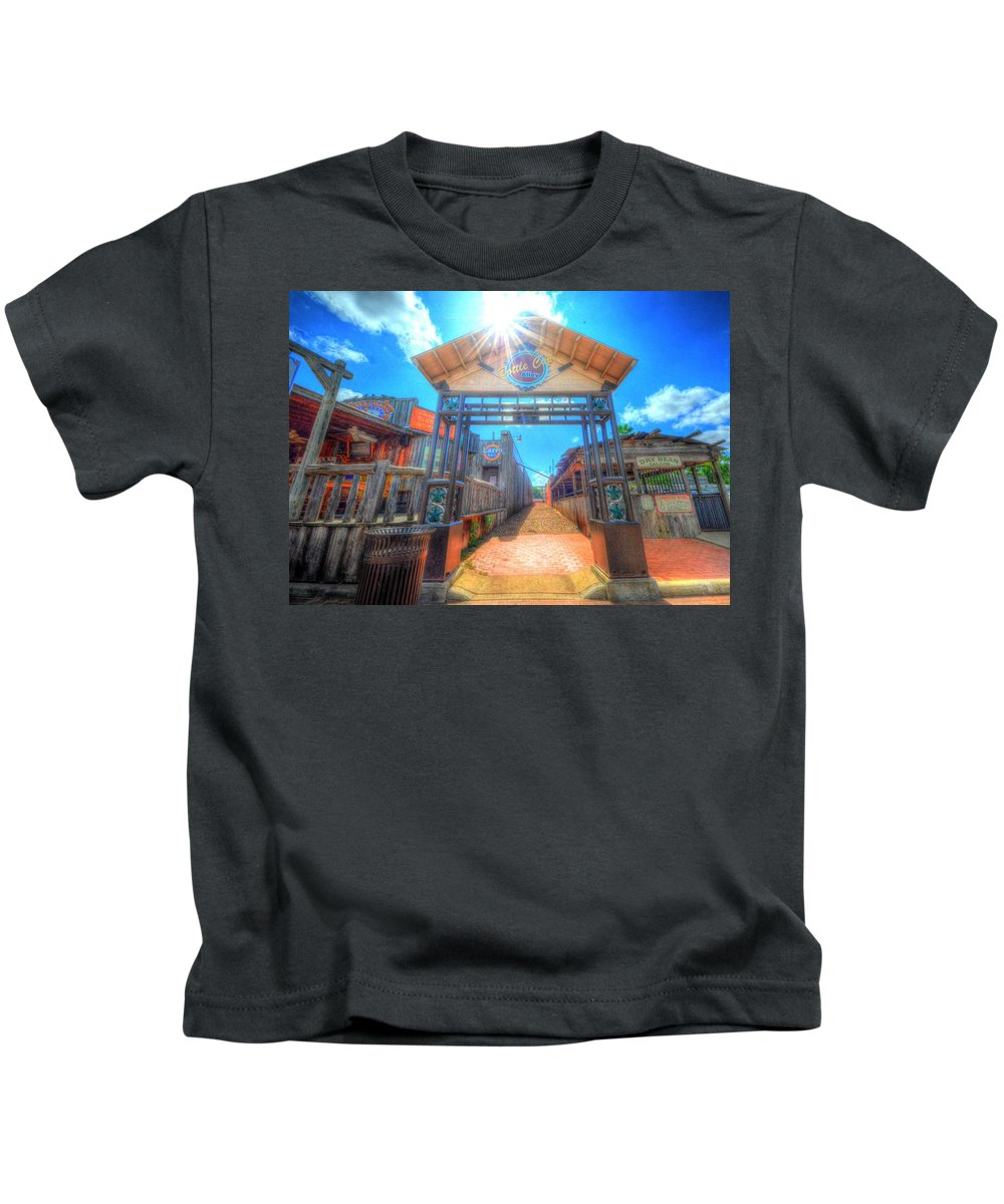 Bottle Cap Alley Kids T-Shirt featuring the photograph Bottle Cap Alley by David Morefield