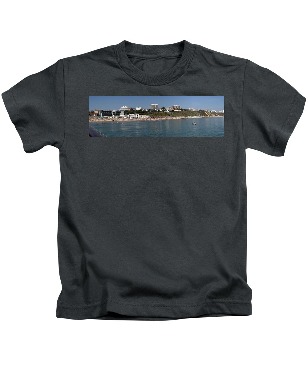 Bournemouth Kids T-Shirt featuring the photograph Bournemouth Beaches by Chris Day