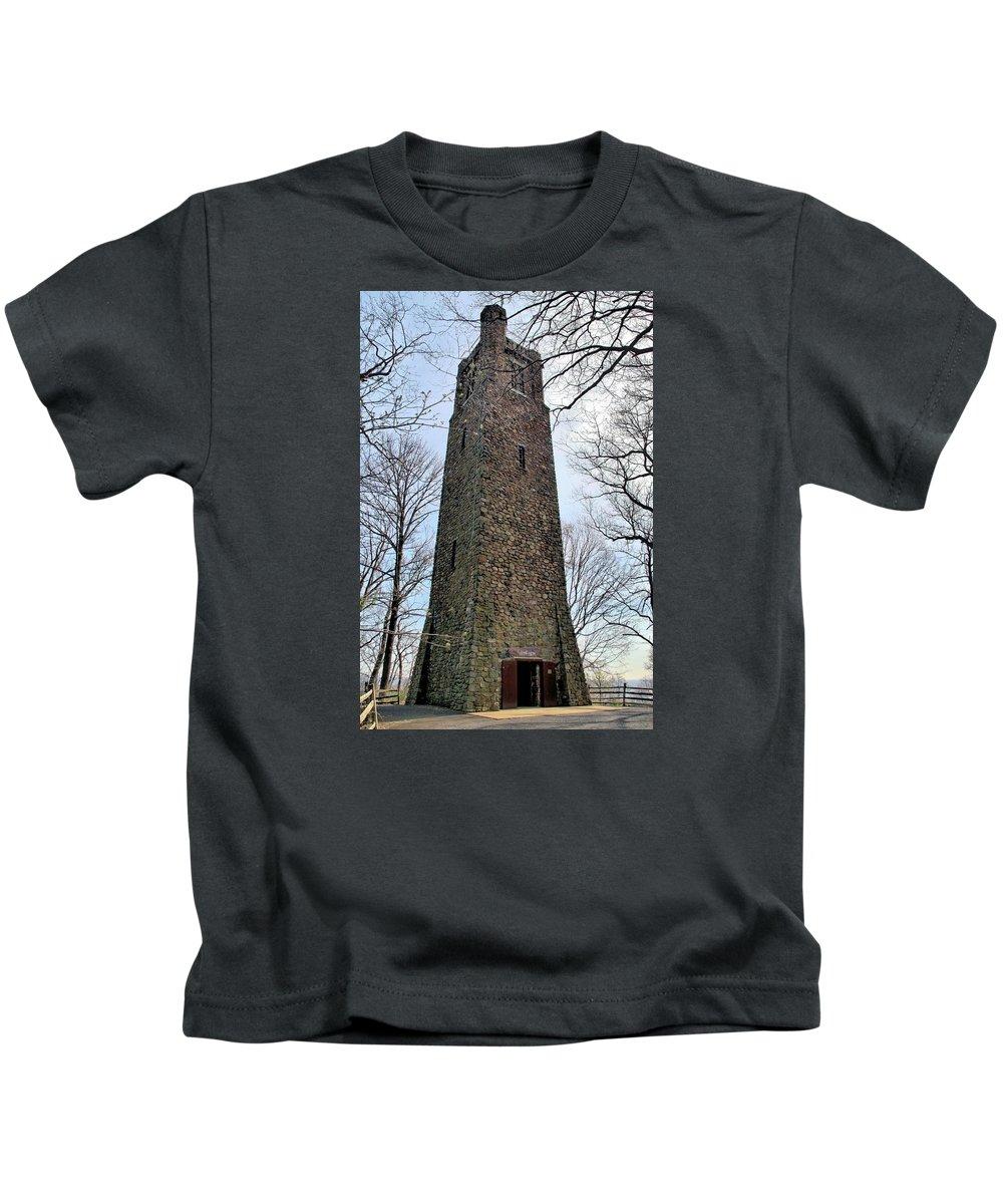 Crossing Kids T-Shirt featuring the photograph Bowman's Hill Tower by DJ Florek