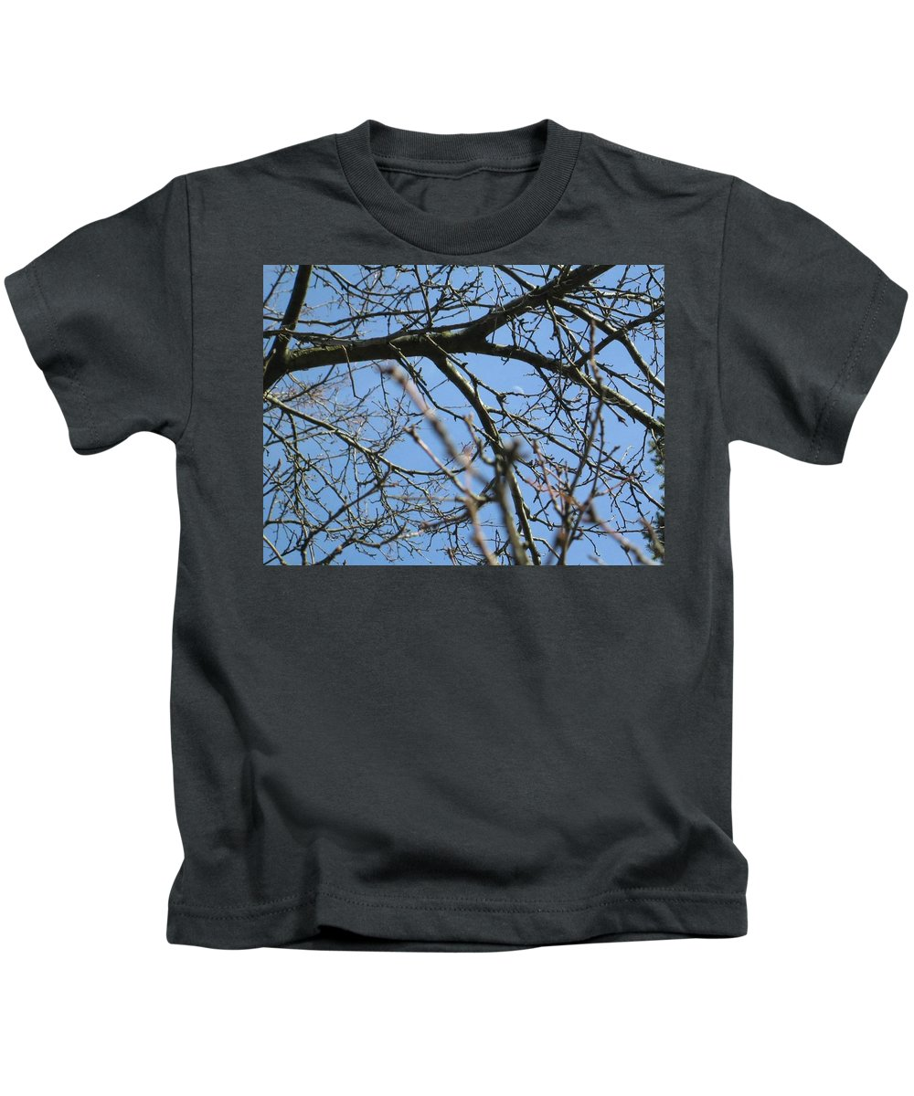 Digital Art Kids T-Shirt featuring the photograph Branches by Belle T Broskie