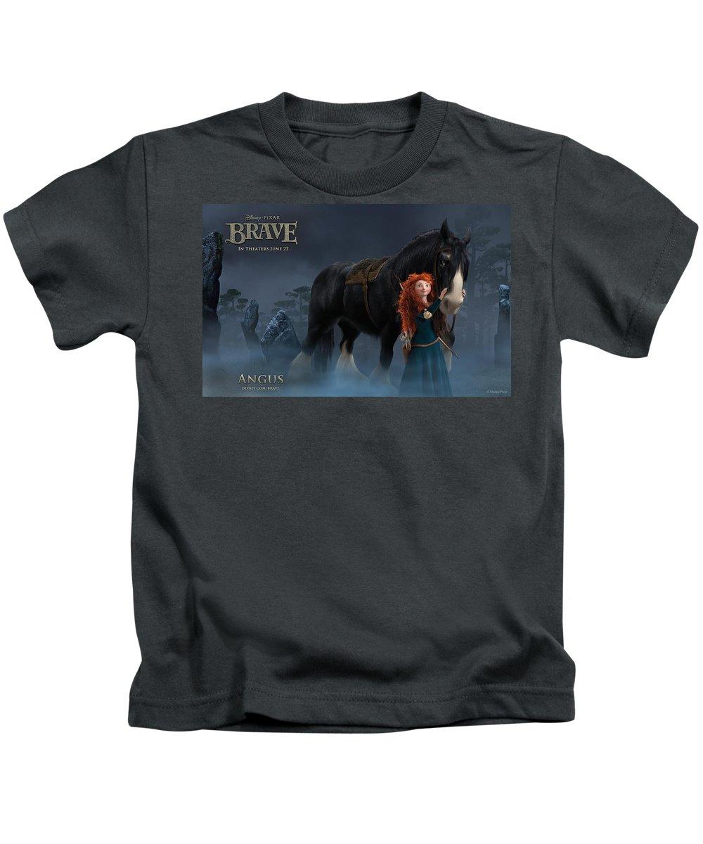 Brave Kids T-Shirt featuring the digital art Brave by Dorothy Binder