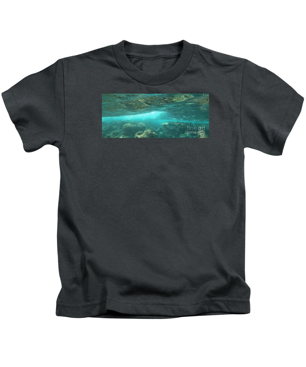 Wave Kids T-Shirt featuring the photograph Break Below by Chad Natti