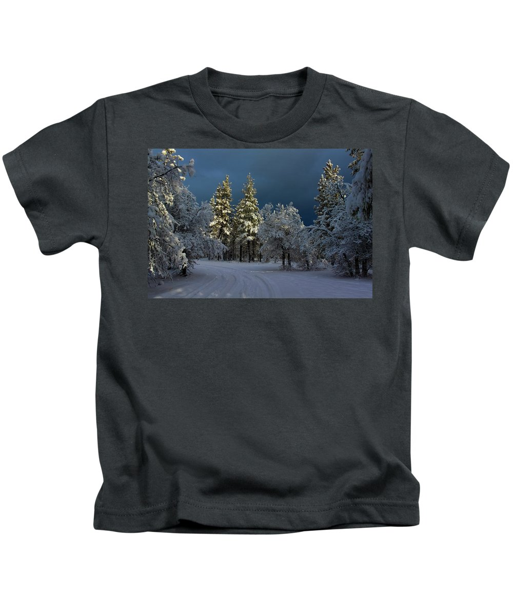 Landscape Kids T-Shirt featuring the photograph Break In The Storm by James Eddy