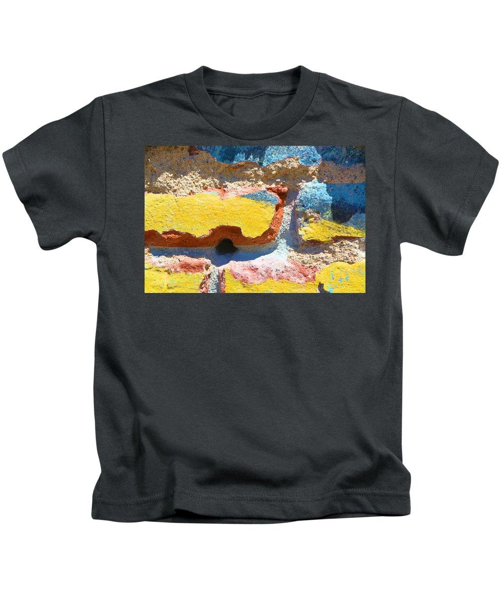 Bricks Kids T-Shirt featuring the photograph Brick In Sun by Josephine Buschman