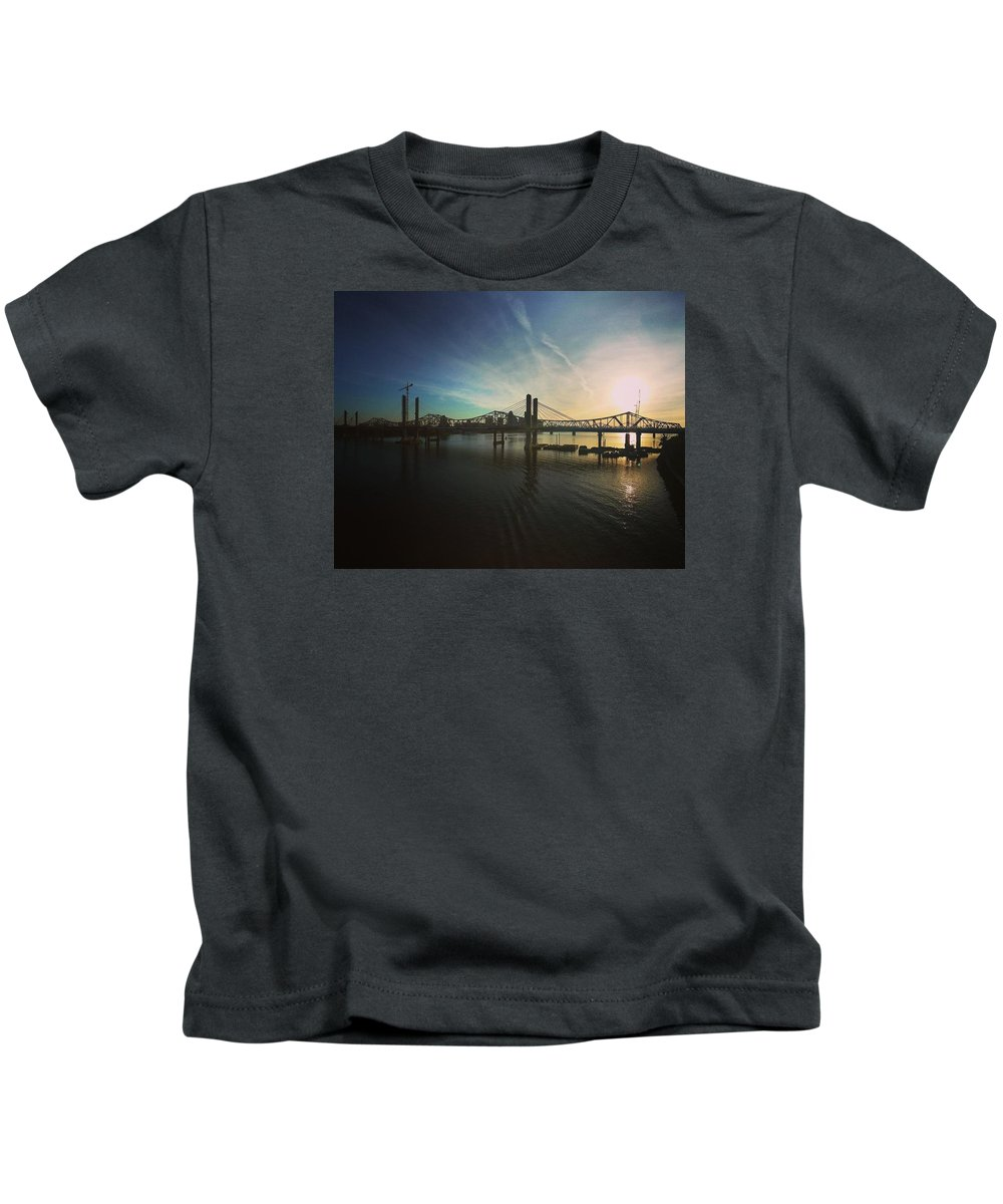 Panorama Kids T-Shirt featuring the photograph Bridge And Colors by Danielle Attanasio