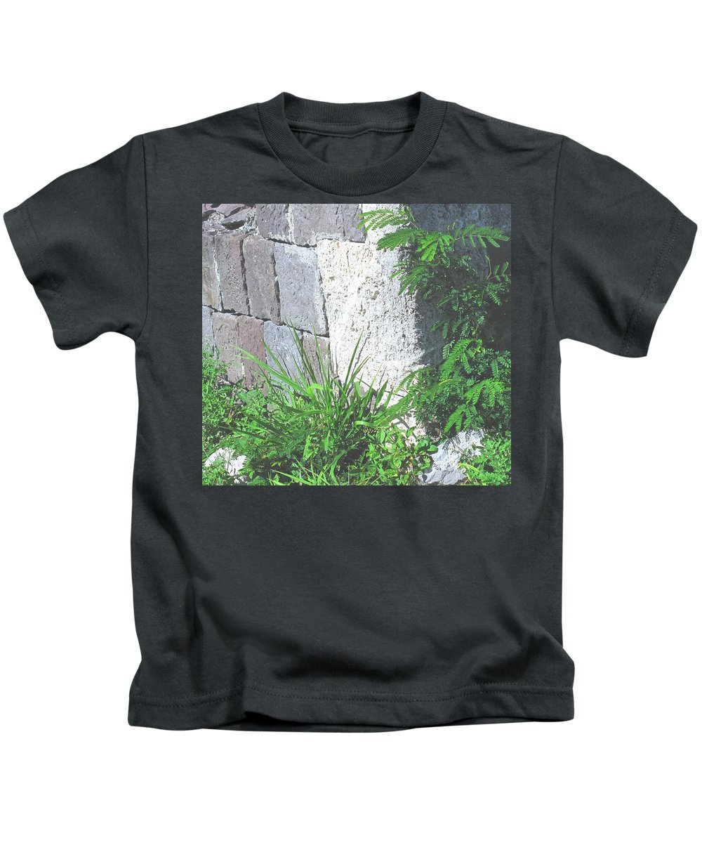 Brimstone Kids T-Shirt featuring the photograph Brimstone Wall by Ian MacDonald