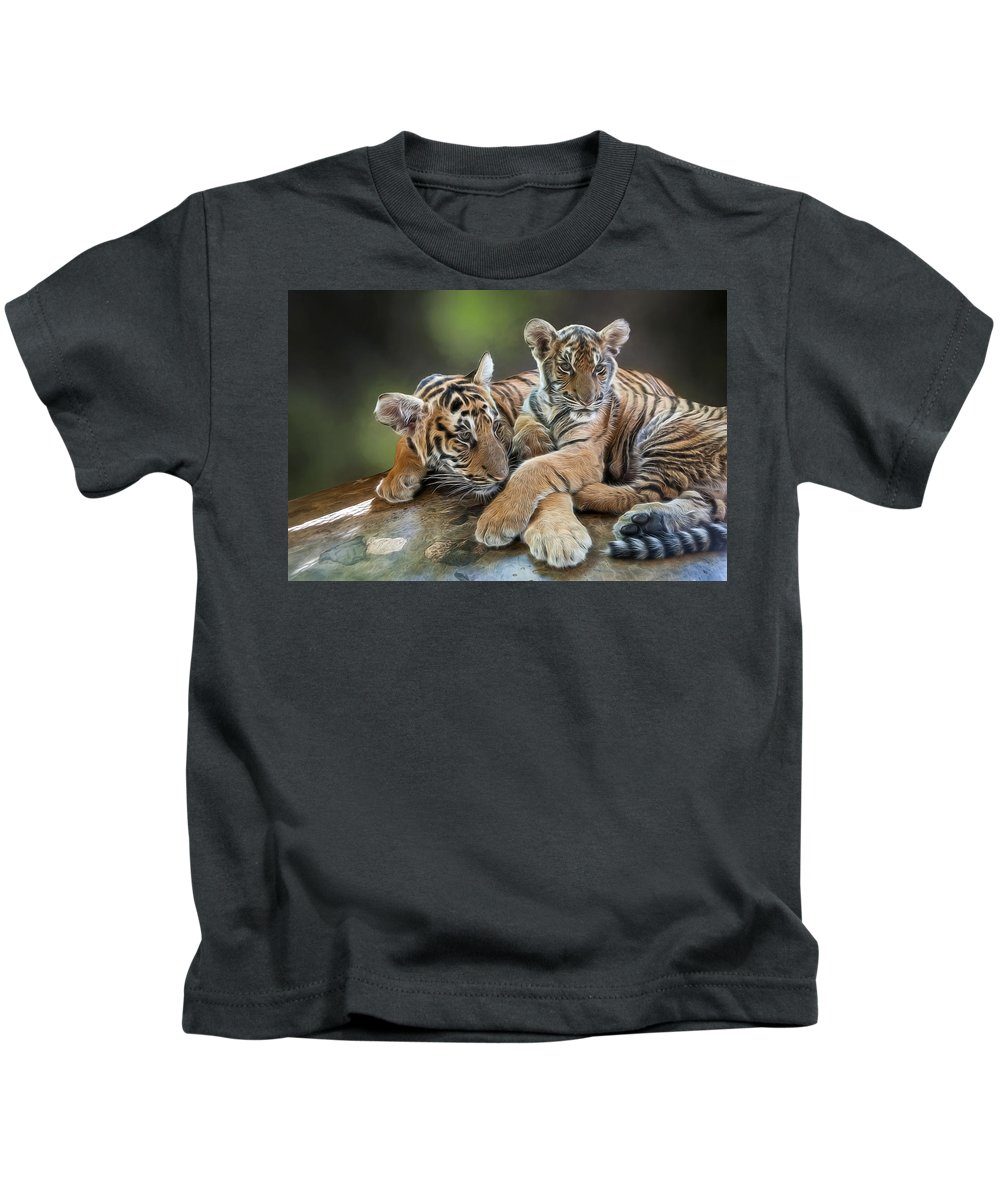 Asia Kids T-Shirt featuring the photograph Brothers by Maria Coulson