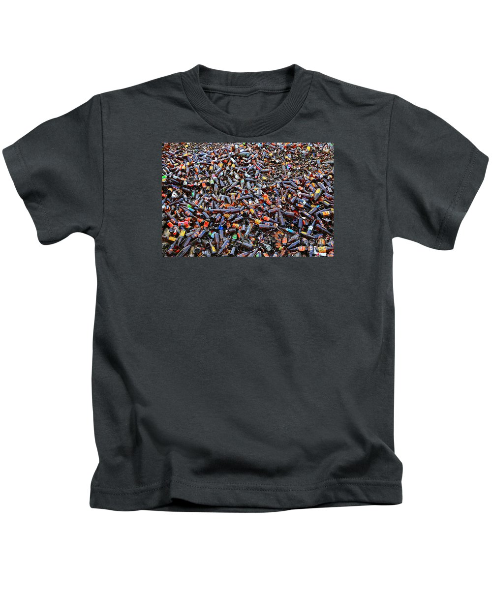 Bottle Kids T-Shirt featuring the photograph Brown Bottles by Nareeta Martin