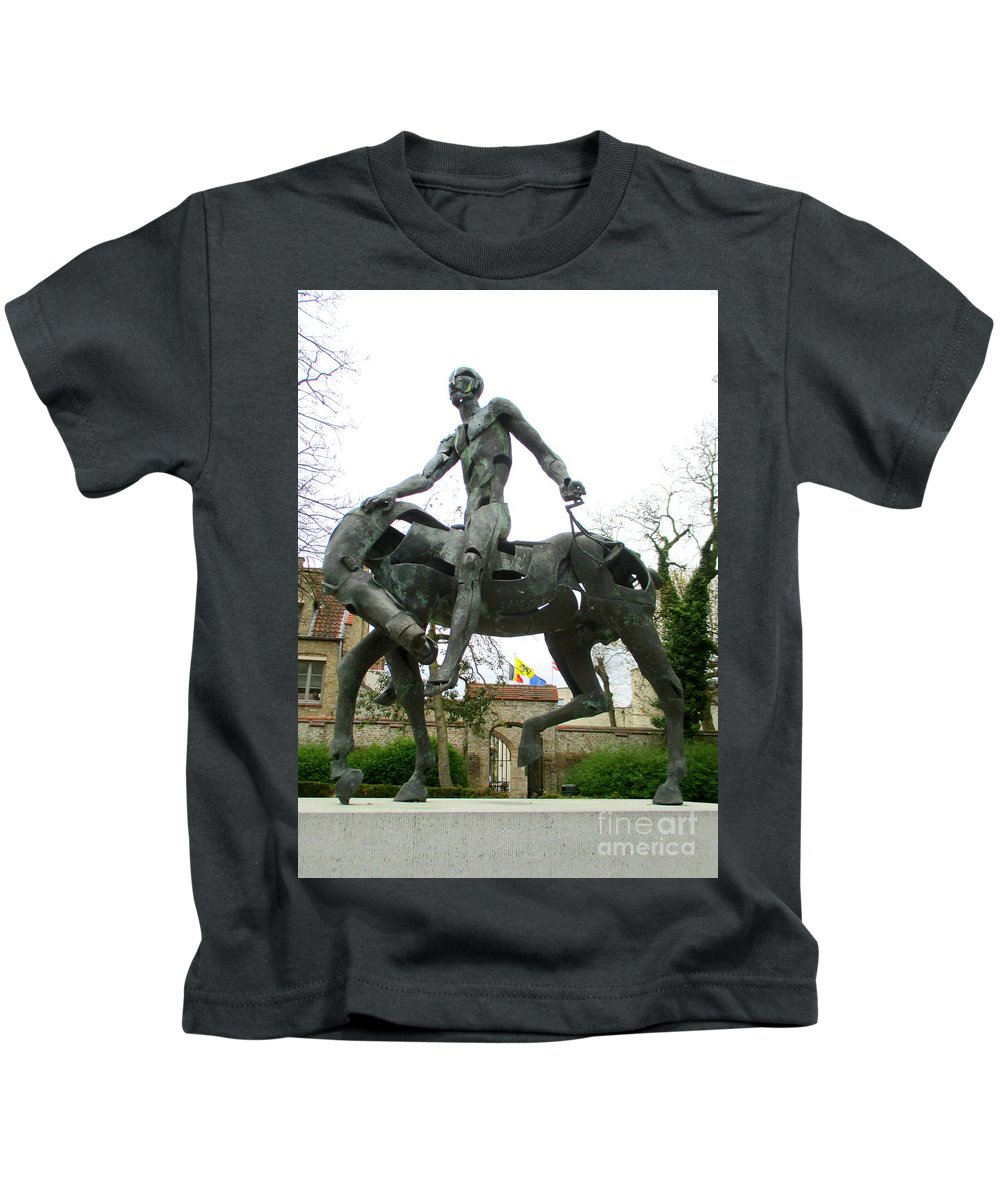 Bruges Kids T-Shirt featuring the photograph Bruges Detail 6 by Randall Weidner