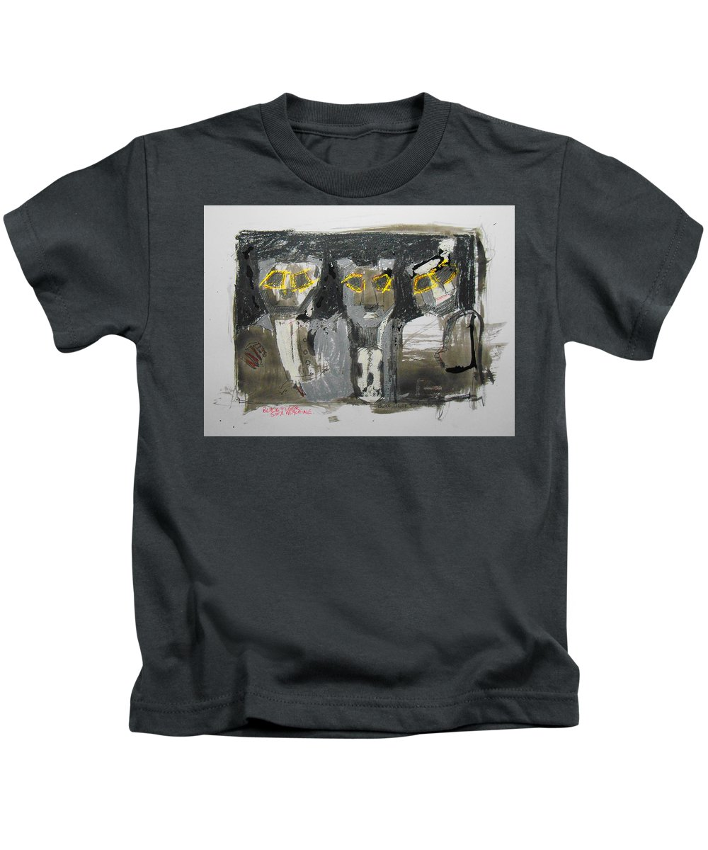 Black Tiger Sex Machine Kids T-Shirt featuring the painting Btsm Sketch by Samuel Zylstra
