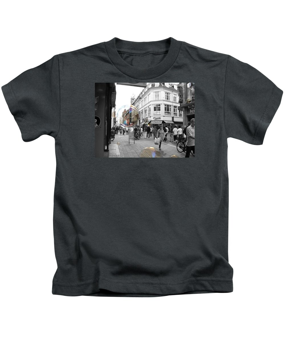 Photography Kids T-Shirt featuring the photograph Bublbes. Copenhagen by Cristina Rettegi