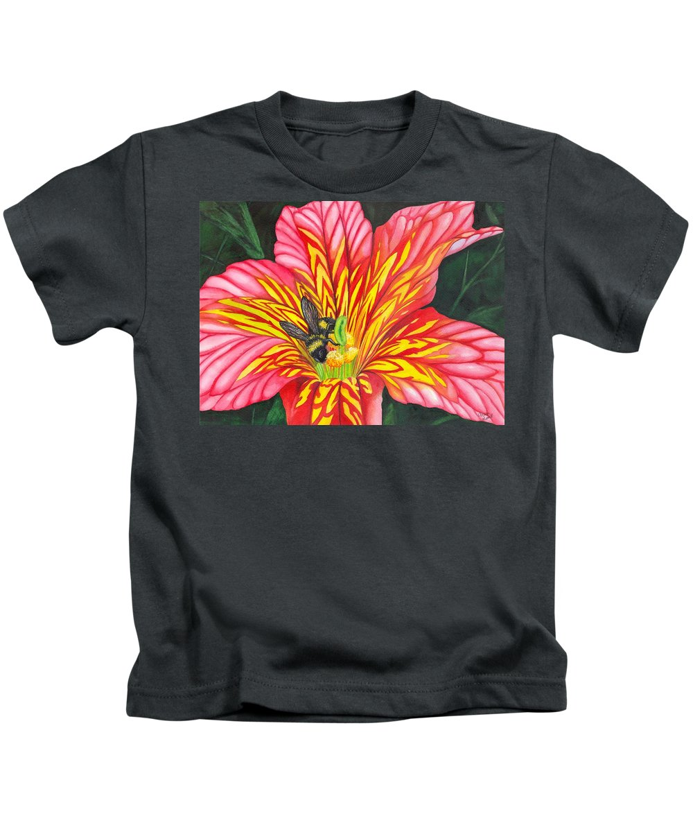 Bee Kids T-Shirt featuring the painting Bumble Bee by Catherine G McElroy