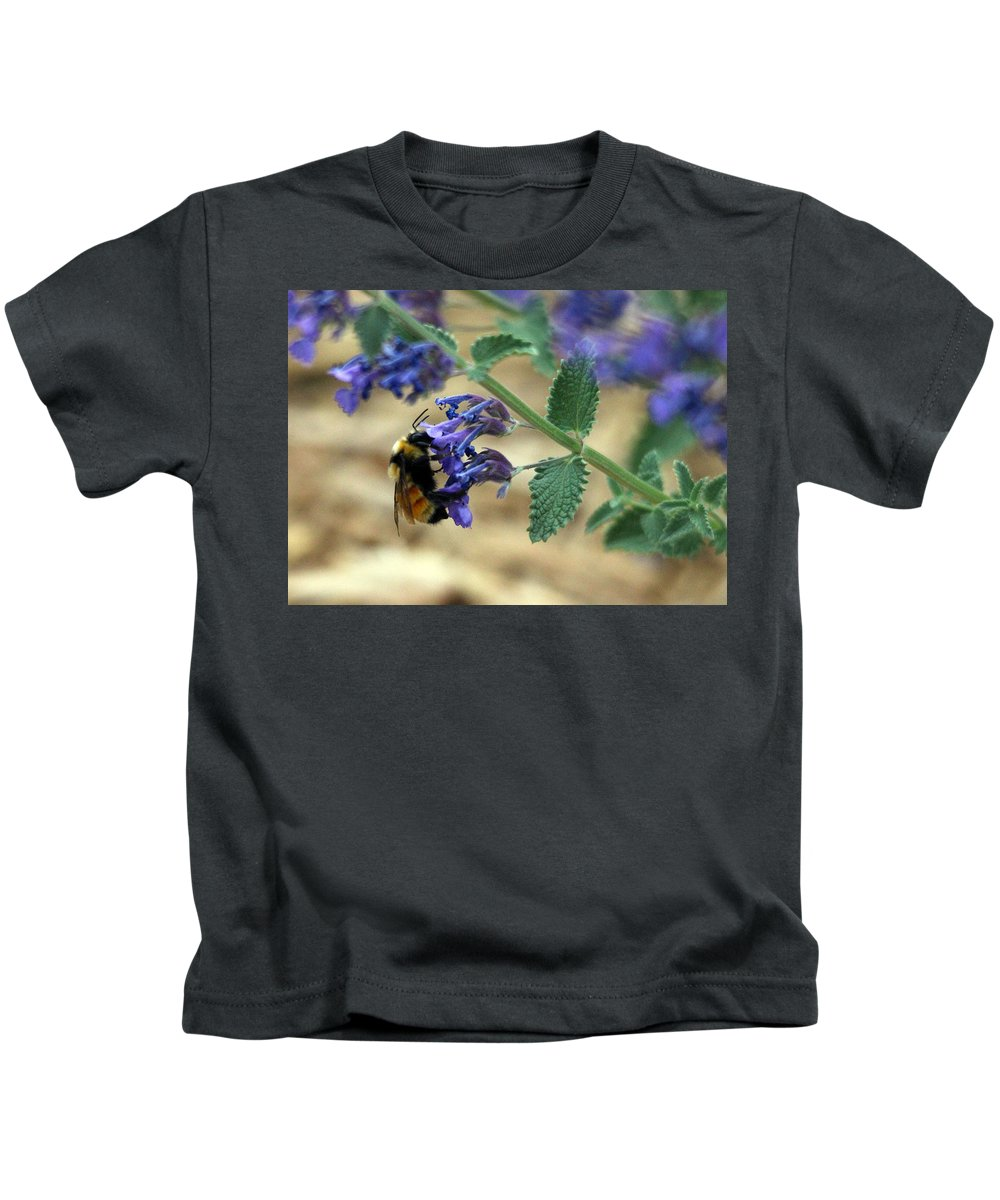 Bumble Kids T-Shirt featuring the photograph Bumble Bee Delight by Samantha Burrow